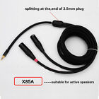 "X85A 3.5mm(1/8"") Jack Stereo to Dual(2) unbalanced XLR(m) 4N-OFC  2ft-17ft"