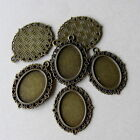 1 &10  BRONZE TONE OVAL CAMEO FRAME SETTING  39mm x 29mm - Fit 25 x 18mm oval