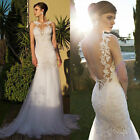 New Sexy Backless Wedding Dresses Bridal Gowns Lace  Mermaid Wedding Custom Size
