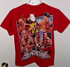 WWE T-Shirt Wrestling Boys or Girls NWT Green Yellow Red Black