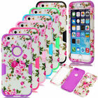 Matte Peony Flower Hybrid Heavy Duty Shockproof Case Cover For iPhone & Samsung