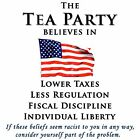 Anti Obama TEA PARTY BELIEVES  Conservative Political Shirt