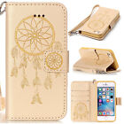 Embossed Flower Dream Catcher Leather Flip Case Cover For Apple iPhone 5S 6S 7S