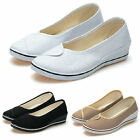 Women Nurse Nursing Shoes Canvas Wedges Comfortable Soft Lightweight US 4.5-8.5