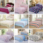 Multi-Style Cotton Bed Flat sheet Cover Set Pillowcases Coverlet Comfort Home Bedding