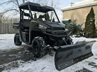 SUPER CLEAN POLARIS RANGER XP 900 HUNTER GREEN ,BRAND NEW 66 INCH PLOW,AND WINCH