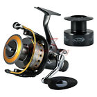 Внешний вид - 2X Spinning Fishing Reels Saltwater Bait feeder 11BB 5.5:1 Surf Kayak Bass Spare