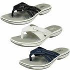 Ladies Clarks Brinkley Calm Flip-Flop Toe-Post Mule Sandals D Fitting