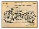 1924 Harley Davidson Motorcycle Patent Print Art Drawing Poster 18 X 24 $24.99 USD on eBay