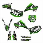 2003 - 2014 KAWASAKI KX 125 250 KX125 KX250 GRAPHICS DECAL KIT #2500 GREEN