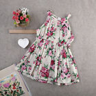 Floral Casual Princess Dress Kid Baby Girl Party Wedding Pageant Dresses Clothes
