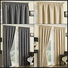 Beverley Ready Made Curtains Thermal Lined Pencil Pleat Pair Textured Chenille