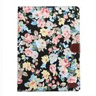 Flower Cloth PU Leather Flip Stand ID Card Case Smart Cover For Apple iPad Pro