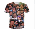New Mens/Womens The Many Faces of Michael Scott 3D Print Casual T-Shirt s-5xL