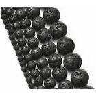 4-14MM Natural Stone Volcano Lava Round Beads For Jewelry Making Free Shipping