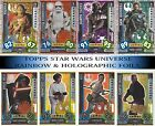 2017 Star Wars Force Attax Universe Holographic & Rainbow foils BUY 3 GET 1 FREE £0.99 GBP