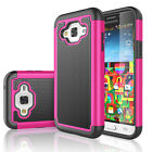 For Samsung Galaxy Amp Prime Protective Rugged Hybrid Rubber Hard Case Cover