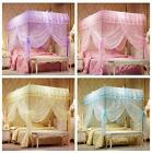 No Frame Luxury Bed Canopy Mosquito Netting Lace Mosquito Net Full Queen King image