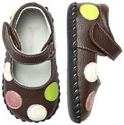 Chocolate Brown Polka Dot Giselle PediPed Original Shoes 0-6 18-24 Months 101237
