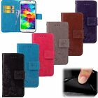 For Samsung S5 S6 S7 & Note New Pattern Leather Magnetic Flip Wallet Case Cover