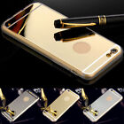 Luxury Ultra-thin Mirror TPU Soft Gel Case Cover For Apple iPhone 5 5S 6 6puls
