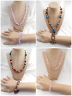 4 Different Unique Handcrafted Vtg-Now Jewelry Matching Necklace Bracelet Sets