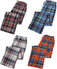 WP Mens Lightweight Plaid Woven Summer Lounge Sleep Bottoms Pajama Pants