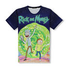 Newest Women Men Cartoon Rick and Morty 3D Print Casual T-Shirt Tee Tops Jersey