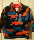 NWT Children's Place Boy's Long Sleeve Camo Fleece Pullover Half zip 2T 3T 4T