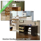 Sauder Sewing and Craft Table Wood Storage Cabinets Organ...