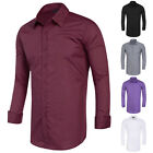 TOP Mens Luxury Casual Stylish Work Slim Fit Long Sleeve Party Dress Shirts S-XL