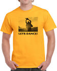 038 Lets Dance mens T-shirt chainsaw scary movie halloween horror gore 80s retro