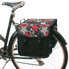 Beluko® Classic Floral Double Pannier Bag Bicycle Cycle Bike Shopping Commuters