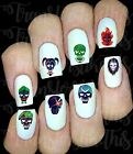 30 SUICIDE SQUAD HARLEY QUINN JOKER NAIL ART DECALS WATER TRANSFERS STICKERS