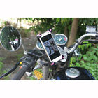 Motorcycle Holder Stand Motorbike Rearview Mirror Mount Bracket For Mobile Phone