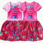 New Trolls Kids Girls Short Sleeve Princess Dress Casual Party Cosplay Custume image
