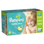 Pampers Baby Dry Diapers Size N, 1, 2, 3, 4, 5, 6 CHEAP!!! NO TAX