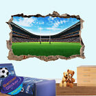 Stadium Field Ground 3d Smashed Rugby Wall Sticker Room Decor Decal Mural Yr7