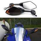 Integrated Turn Signal Mirrors For Honda CBR 600 F4i 929 954 RR F1 F2 Hurricane $28.99 USD
