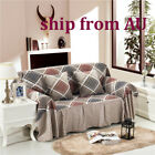 Nice Checked Linen Blend Slipcover Sofa Cover oAUL Protector for 1 2 3 4 seater