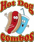 Hot Dog Combos DECAL (CHOOSE YOUR SIZE) BBQ Food Sign Restaurant Concession