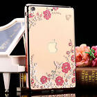 Diamond Flower Soft TPU Silicone Case Clear Cover For Apple iPad Mini 2 3 4 Air