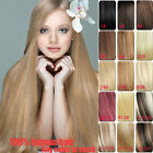 """Half Head 100% Remy Human Hair Extension Invisible Wire Hair Extensions 16"""" 120g"""