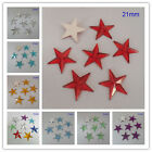 21MM Five Star Flatback Acrylic Diamond Loose Rhinestone Scrapbook DIY Craft