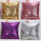 New Soft Car Sofa Cushion Mermaid Glitter Sequins Pillow Cover 5 Colors Covers