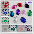 Oval 10X14MM Flatback Rhinestone Acrylic Diamond Scrapbook Craft DIY Decoration