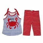 Mud Pie Crab Tunic & Capri Set Size 12M-5T # 1112342