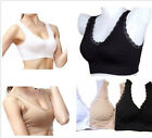 3Pcs/set Women Lace Genie Bra with Removable Pads.White Black Nude - All Sizes