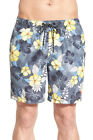 New TOMMY BAHAMA Naples Seaside Hibiscus gray floral swim trunks Medium 32 34