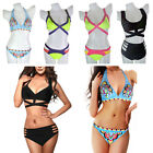 Women Push Up Padded Bra Bandage Bikini Set Swimsuit Triangle Swimwear Bathing